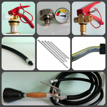 Запасные части и комплектующие к порошковым  (ОП), углекислотным  (ОУ), (ОВП)