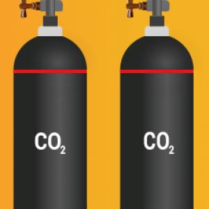 Обмен баллона 40 л. с углекислотой на нашем складе