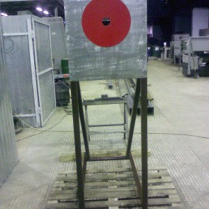 Мишень для соревнований по пожарно-прикладному спорту (нержавеющая сталь)