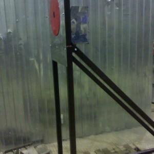 Мишень с баком из нержавеющей стали для соревнований по пожарно-прикладному спорту