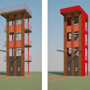 Башня спортивная на 2 дорожки сборно-разборная