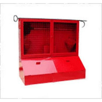 Стенд металлический, закрытого типа с сеткой, с ящиками для песка (с комплектующими)