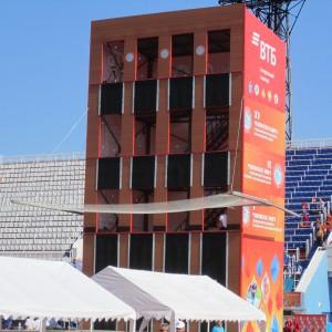 Башня  на 4 дорожки  сборно-разборная для соревнований по пожарно-прикладному спорту