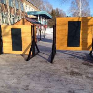 Забор спортивный регулируемый для соревнований по пожарно-прикладному спорту (эконом)