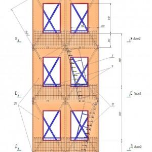 Учебно-тренировочная стационарная башня на 2 дорожки  (НЕ разборная)
